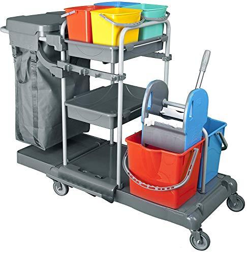 Nova Clean Tools KHA3301 Deluxia Profi Reinigungswagen PE - 2