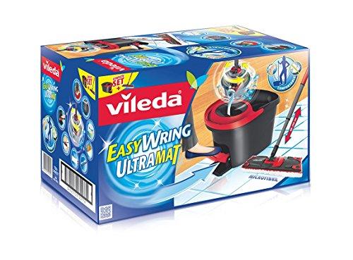 Vileda EasyWring UltraMat Komplett-Set, Bodenwischer und Eimer mit PowerSchleuder - 2