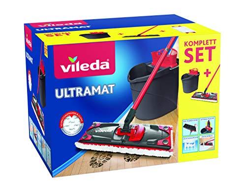 Vileda UltraMat Komplett-Set, Bodenwischer und Eimer mit PowerPresse - 2