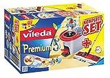 Vileda Premium 5 Komplett-Set, extra breiter Bodenwischer und Eimer mit Powerschleuder - 2