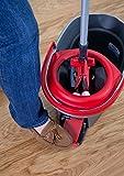 Vileda Premium 5 Komplett-Set, extra breiter Bodenwischer und Eimer mit Powerschleuder - 5