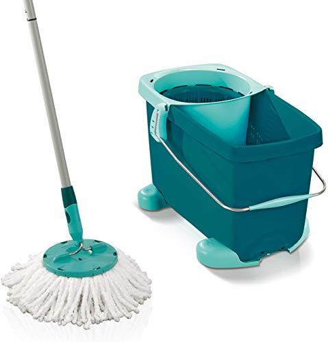 Leifheit 52052 Set Clean Twist Mop mit Rollwagen (ohne Spritschutz)