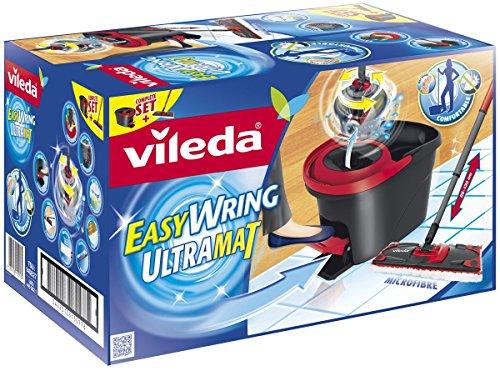 Vileda EasyWring UltraMat Komplett-Set, Bodenwischer und Eimer mit PowerSchleuder sowie extra Ersatzbezug - 2
