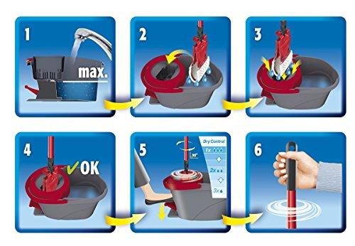 Vileda EasyWring UltraMat Komplett-Set, Bodenwischer und Eimer mit PowerSchleuder sowie extra Ersatzbezug - 7
