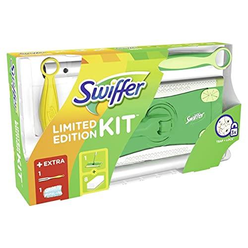 Swiffer Starter Set Bodenwischer+8 Tücher+24 feuchte Tücher WET + Staubmagnet - 3