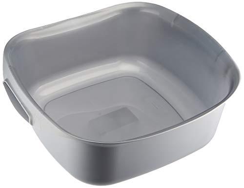 Curver 02337-212-00 Quadratische Waschschüssel Urban, 10 L, silber / anthrazit