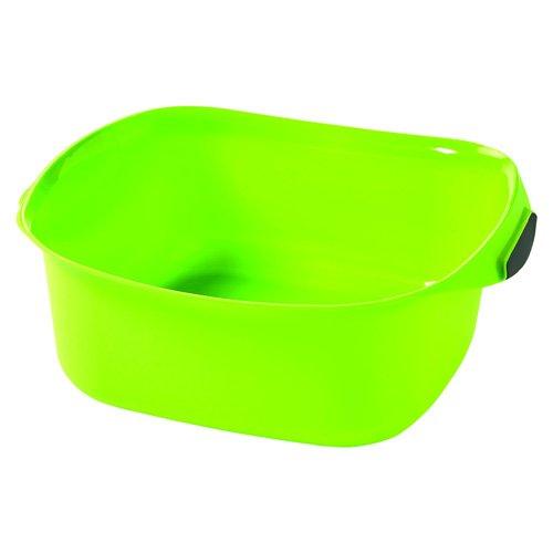 Curver 02337-590 Waschschüssel 10L, quadratisch Plastik 34.4 x 38.8 x 14.9 cm, grün/silber