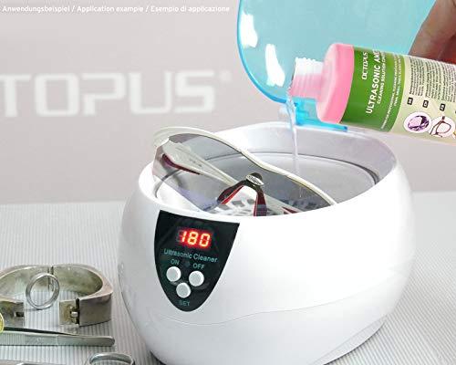 250ml Ultraschallreiniger Konzentrat für Ultraschallbad mit extra Glanz- und Klarsichtverstärker, als Brillenreiniger, Schmuckreiniger für Optik und Mechanik mit Fettlösekraft - 3