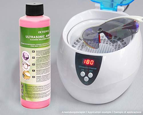 250ml Ultraschallreiniger Konzentrat für Ultraschallbad mit extra Glanz- und Klarsichtverstärker, als Brillenreiniger, Schmuckreiniger für Optik und Mechanik mit Fettlösekraft - 4