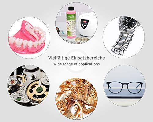 250ml Ultraschallreiniger Konzentrat für Ultraschallbad mit extra Glanz- und Klarsichtverstärker, als Brillenreiniger, Schmuckreiniger für Optik und Mechanik mit Fettlösekraft - 6