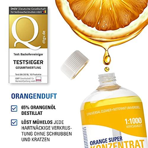 Maxxi Clean Orangenreiniger Konzentrat Reinigungsmittel 500 ml – Universalreiniger als Glasreiniger, WC Reiniger, Badreiniger und Küchenreiniger für Haushalt und Industrie – extra stark - 2