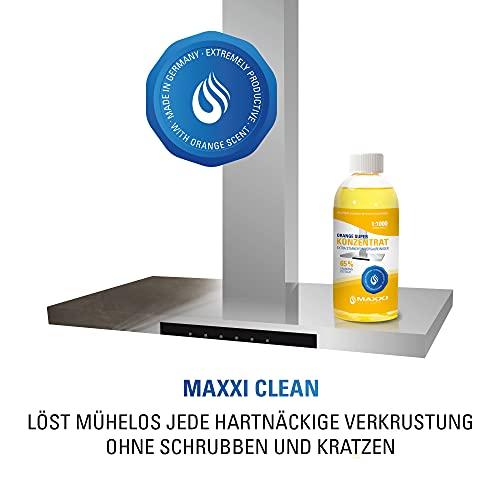 Maxxi Clean Orangenreiniger Konzentrat Reinigungsmittel 500 ml – Universalreiniger als Glasreiniger, WC Reiniger, Badreiniger und Küchenreiniger für Haushalt und Industrie – extra stark - 4