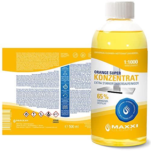 Maxxi Clean Orangenreiniger Konzentrat Reinigungsmittel 500 ml – Universalreiniger als Glasreiniger, WC Reiniger, Badreiniger und Küchenreiniger für Haushalt und Industrie – extra stark - 5