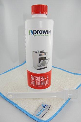proWIN Backofenreiniger 500 ml mit Pinsel und Maxxi Clean Millionen Tuch
