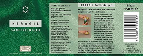 KERAGIL Lederpflege und -reinigungs Set, je 150 ml Reiniger und Pflegecreme - 3