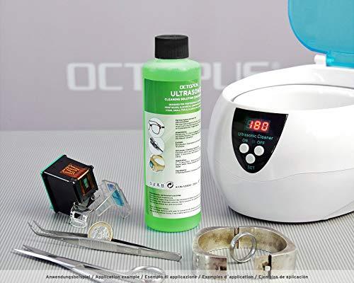Octopus Ultraschallreiniger Konzentrat für die Reinigung von Schmuck, Brillen, Dental, Edelmetallen und Druckköpfen im Ultraschallbad, 250ml - 2