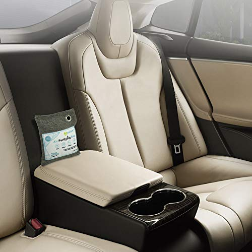Apalus® Luftentfeuchter Auto | Luftreiniger Beutel Aus Bambus Aktivkohle, Der Natürliche Auto Lufterfrischer & Raumerfrischer ist der perfekte Geruchsentferner für Auto, Schlafzimmer und Abstellräume - 6