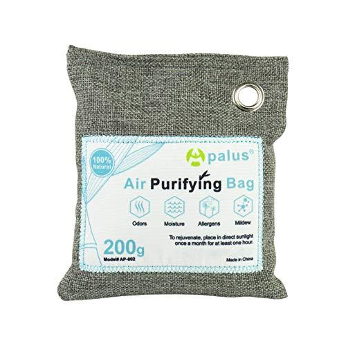 Apalus® Luftentfeuchter Schrank | Luftreiniger Beutel Aus Bambus Aktivkohle, Der Natürliche Lufterfrischer & Raumerfrischer ist der perfekte Geruchskiller für Bad, Garderobe, Küche und Küchenschränke