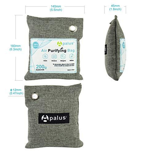 Apalus® Luftentfeuchter Schrank | Luftreiniger Beutel Aus Bambus Aktivkohle, Der Natürliche Lufterfrischer & Raumerfrischer ist der perfekte Geruchskiller für Bad, Garderobe, Küche und Küchenschränke - 5