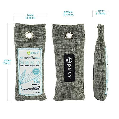 Apalus® Schuh-Erfrischer | Luftreiniger Beutel Aus Bambus Aktivkohle, Der Natürliche Lufterfrischer & Raumerfrischer Ist der perfekte Geruchsneutralisierer für Schuhe, Schrank und Sporttasche - 2
