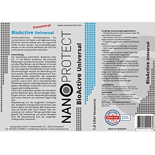 BioActive Universal | Mikrobiologischer Geruchsneutralisierer | Mit Wirkbeschleuniger | Natürlich, hygienisch und dauerhaft | Konzentrat für 2 Liter | Sprühflasche mitgeliefert | Gegen Uringeruch - 2