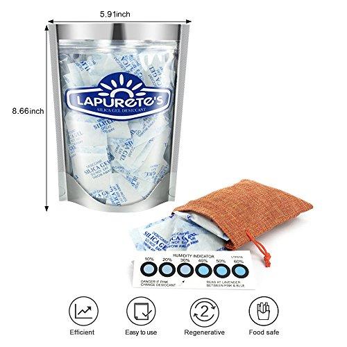 Lapurete 's ® 10 Gramm 25 Stück Silicagel Pakete Trockenmittel Luftentfeuchter (regenerierbar) - 2