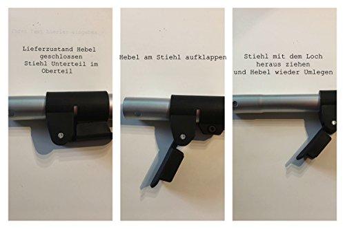 CleanSV® Wischset 50 cm – Putzwagen Chrom / Reinigungswagen mit Presse, Mop Set: bestehend aus 3 Baumwollmop / Wischmop 50 cm , einem 50 cm Klapphalter mit Profi Telekopstiehl - 2